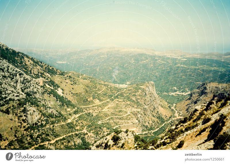 Kreta Himmel Ferien & Urlaub & Reisen Sommer Landschaft Ferne Reisefotografie Berge u. Gebirge Straße Wiese Wege & Pfade Felsen Tourismus wandern Textfreiraum