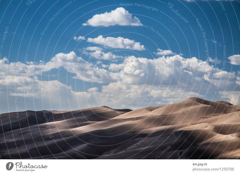 durchwachsen Himmel Natur Ferien & Urlaub & Reisen Sommer Landschaft Wolken Ferne Umwelt Freiheit Sand Tourismus Klima Abenteuer trocken USA Wüste