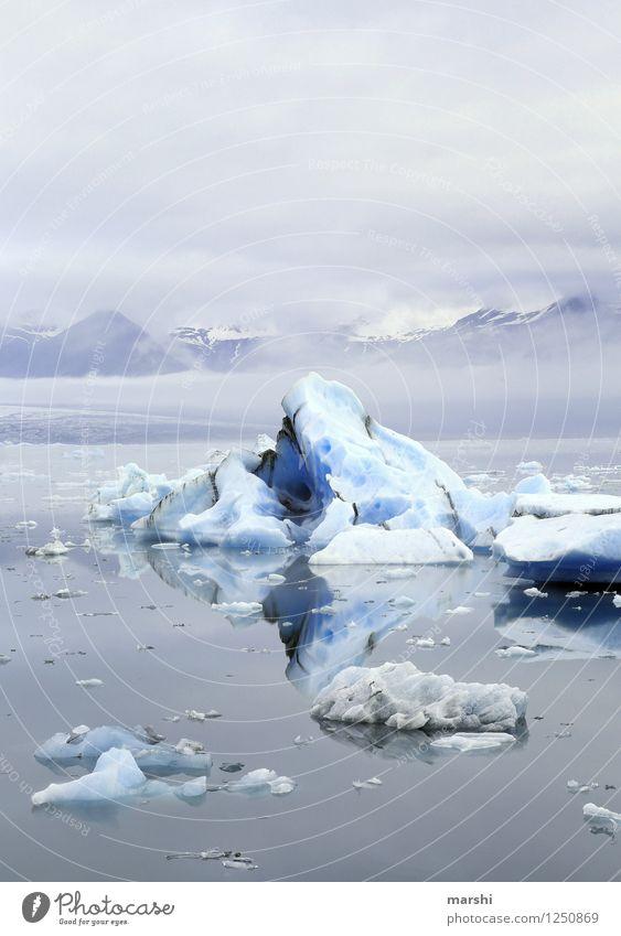 Eisberg Natur Ferien & Urlaub & Reisen Meer Landschaft Ferne kalt Reisefotografie Berge u. Gebirge Küste See Stimmung Eis Klima Bucht Island Gletscher