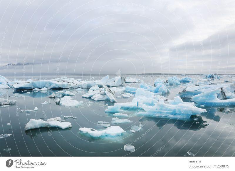 ICE ICE ICE Umwelt Natur Landschaft Himmel Wolken Winter Klima Klimawandel Wetter Schnee Küste Seeufer Fjord Meer Stimmung Eis Eisberg Island Jökulsárlón