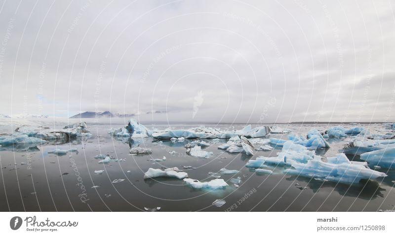 Gletscherlagune Himmel Natur Meer Landschaft Wolken Ferne Winter Reisefotografie Küste Stimmung Eis Wetter Klima Seeufer Island