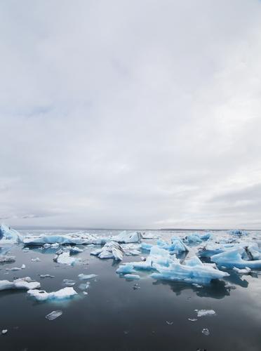 Abkühlung Natur blau Himmel (Jenseits) Wasser Landschaft Wolken ruhig Ferne Winter Reisefotografie kalt Gefühle See Stimmung Nebel Eis
