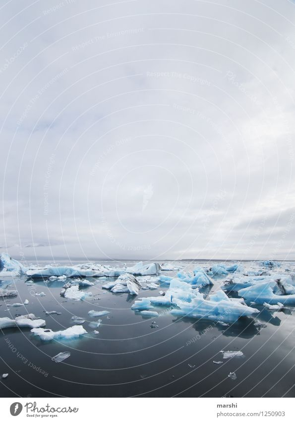 Abkühlung Natur Landschaft Wasser Wolken Winter Klima Klimawandel Nebel Eis Frost See Gefühle Stimmung Island Reisefotografie Gletscher Gletschereis Eisberg