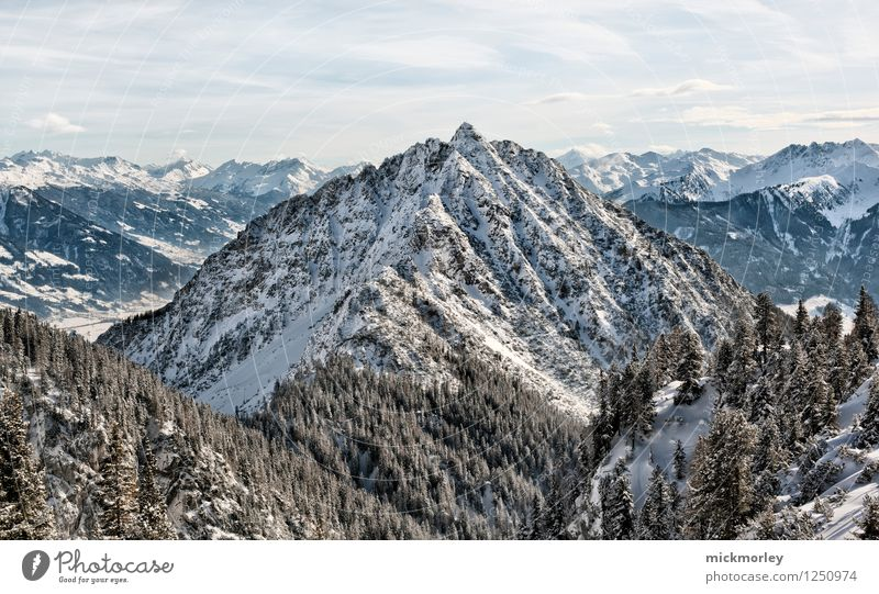 Schneeschuh Wanderung Ferien & Urlaub & Reisen Tourismus Ausflug Abenteuer Ferne Freiheit Winter Winterurlaub Berge u. Gebirge Umwelt Natur Landschaft