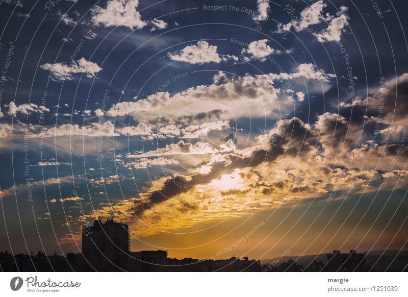 Abendstimmung über Jerusalem Himmel Ferien & Urlaub & Reisen blau Sommer Wolken Haus Ferne Freiheit braun Tourismus fantastisch bedrohlich Abenteuer Romantik