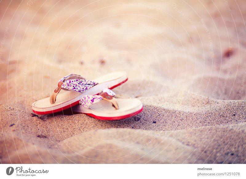 Strandgut Ferien & Urlaub & Reisen schön Sommer Sonne Erholung rot Einsamkeit Landschaft ruhig Stil Schwimmen & Baden braun Stimmung Sand träumen