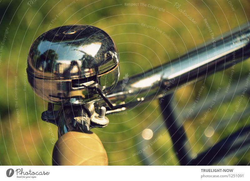 Gut zu hören Stadt grün Freude gelb Leben Stil Gesundheit grau Lifestyle Metall glänzend Freizeit & Hobby Design Fahrrad ästhetisch groß