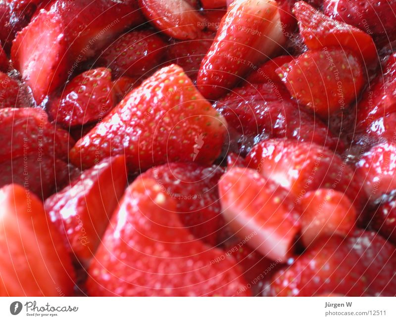 hm.... lecker rot Frucht süß Süßwaren Erdbeeren