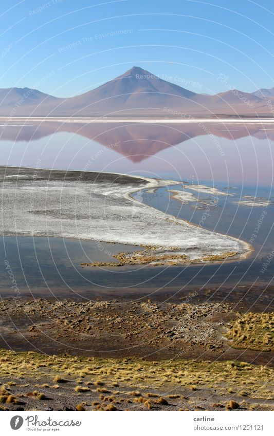La laguna colorada Himmel Natur blau Pflanze grün Wasser weiß Landschaft Berge u. Gebirge Umwelt Wärme Küste See Felsen Wetter Erde