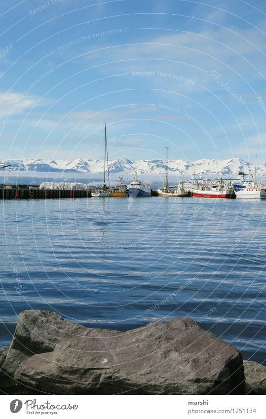 Husavik Freizeit & Hobby Natur Landschaft Sonne Sommer Berge u. Gebirge Vulkan Küste Seeufer Bucht Fjord Meer Insel Stimmung Reisefotografie Island bergig