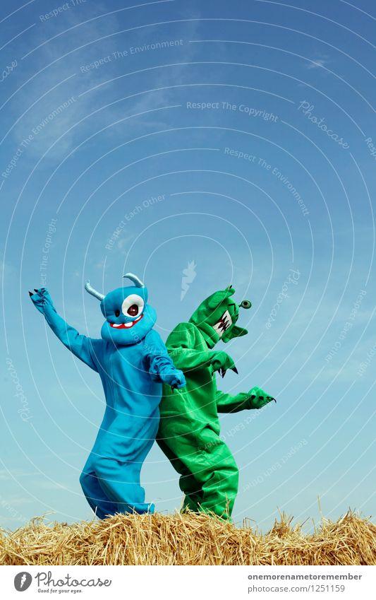 shake that ass blau grün Freude Spielen Kunst Party ästhetisch Tanzen Gesäß Maske Jahrmarkt Kunstwerk Kostüm Karnevalskostüm Monster spaßig