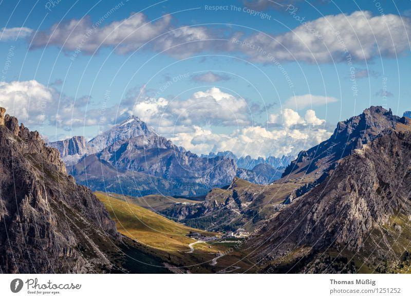 Dolomiten Ferien & Urlaub & Reisen schön Sommer Landschaft Wolken Berge u. Gebirge wandern Schönes Wetter Italien Alpen entdecken Fernweh Dolomiten
