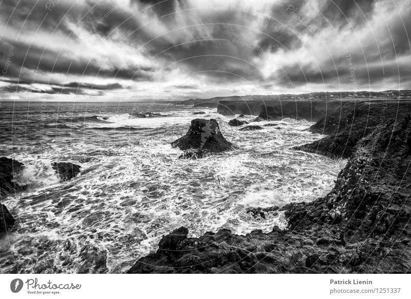 Es wird Regen geben Himmel Natur Ferien & Urlaub & Reisen Erholung Meer Einsamkeit Landschaft Wolken Strand Umwelt Traurigkeit Küste Stimmung Wetter Erde