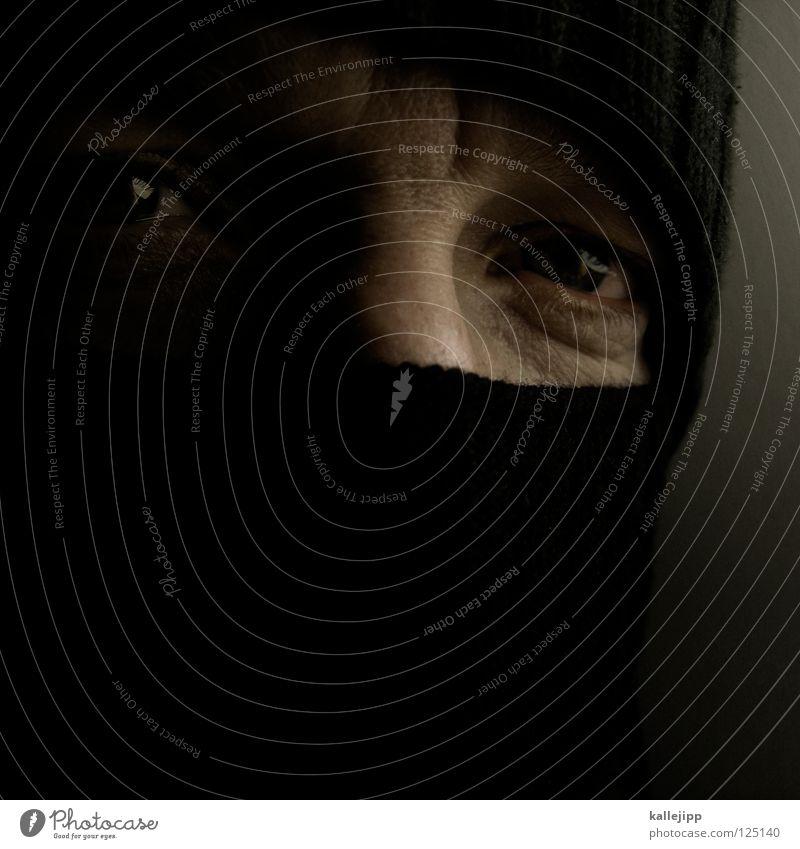 ? Mensch Mann Gesicht Auge kalt Arbeit & Erwerbstätigkeit Angst Frieden Gewalt Mütze Krieg chaotisch Punk anonym Verbote Panik