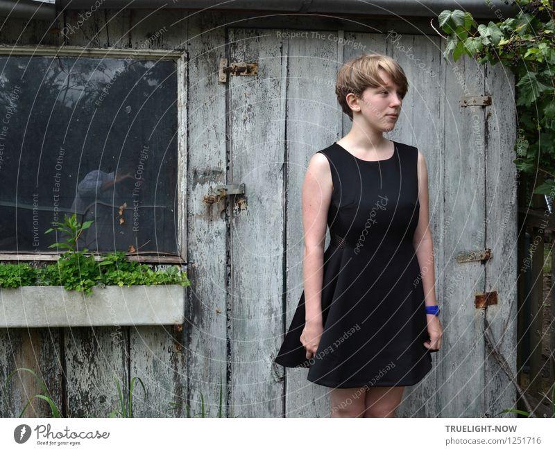 Fotograf und Model Mensch Kind Jugendliche nackt schön Sommer Junge Frau Blatt Gesicht feminin Haare & Frisuren Garten Lifestyle Mode Design elegant