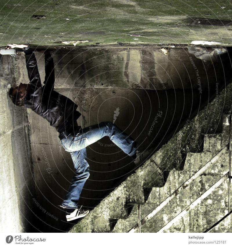 stairway to hell Mensch Himmel Mann Hand Haus Fenster Berge u. Gebirge Gefühle Architektur springen See Lampe Luft Linie Tanzen Glas