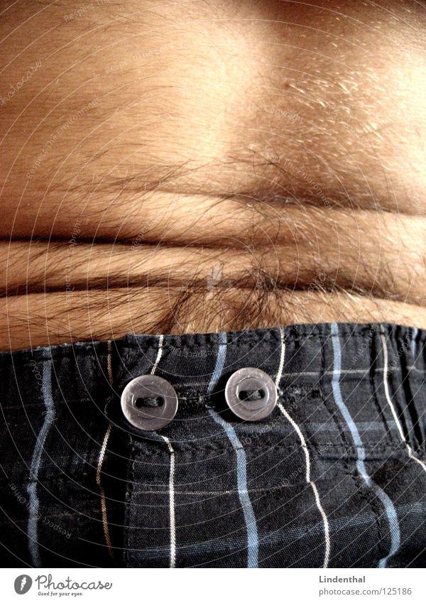 Belly Crinkles Mann Haare & Frisuren sitzen Falte Bauch Shorts Unterhose Bauchmuskel
