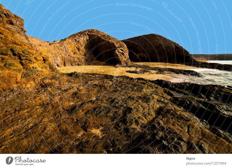 Himmel Natur Ferien & Urlaub & Reisen Pflanze Sommer Meer Landschaft Wolken Haus Strand schwarz Berge u. Gebirge Küste Stein Sand Felsen