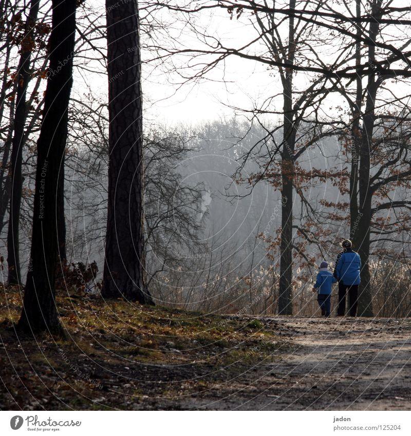 Komm... Kind Frau Baum Wald Park See ruhig Spielen gehen begleiten Begleiter Vertrauen Geborgenheit Zusammensein 2 Sicherheit Wege & Pfade Spaziergang Ball