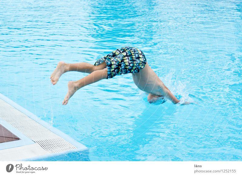 Kopfsprung Freude Freizeit & Hobby Ferien & Urlaub & Reisen Tourismus Sommer Sommerurlaub Wassersport Mensch Junge Leben Körper 1 8-13 Jahre Kind Kindheit