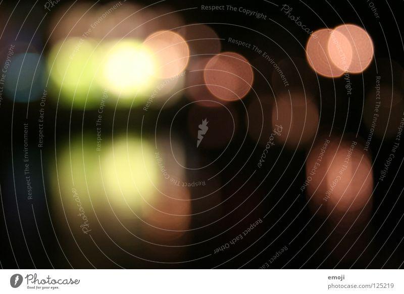 froh grün rot schwarz dunkel Glück Lampe hell orange rosa Hintergrundbild Fröhlichkeit Hoffnung Dekoration & Verzierung zart Konzentration Punkt