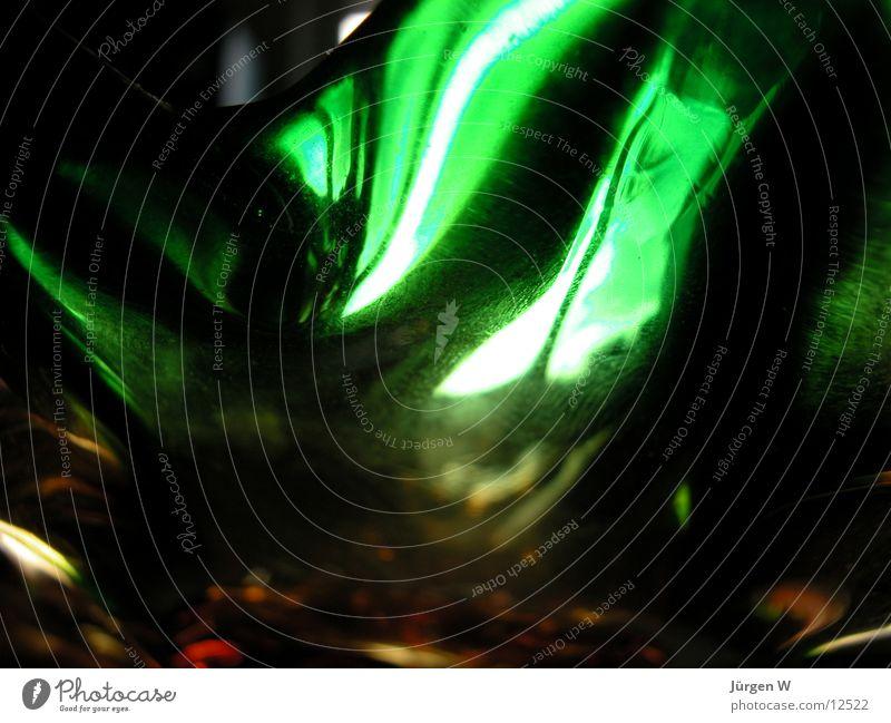 Licht durch grünes Glas 1 Farbe hell Dinge