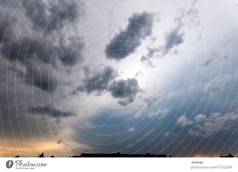 Wetterumschwung Himmel Natur Farbe Wolken Umwelt Stimmung bedrohlich Wandel & Veränderung Unwetter Gewitterwolken nur Himmel