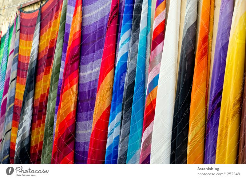 neuer Stoff Fes Marokko Schal Kopftuch dünn exotisch lang weich blau mehrfarbig gelb gold grün violett orange rosa rot schwarz silber türkis weiß Farbe