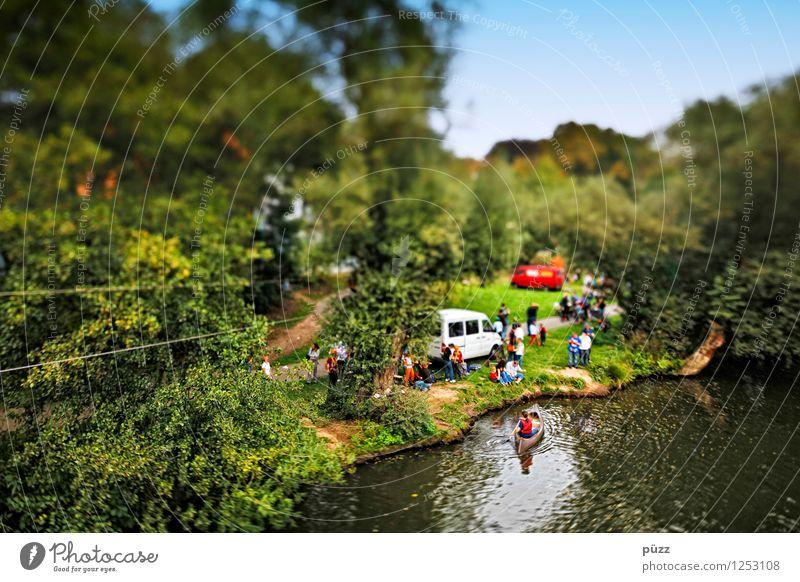 Wasserspaß Mensch Natur Ferien & Urlaub & Reisen Jugendliche grün Sommer Sonne Baum Erholung Landschaft 18-30 Jahre Erwachsene Umwelt Sport Menschengruppe
