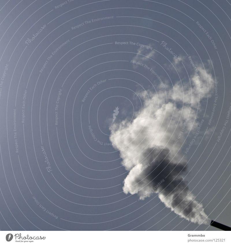Die Luft ist raus Himmel dreckig Umwelt Industrie Rauch Geruch Schornstein Klimawandel Kohlendioxid Übelriechend