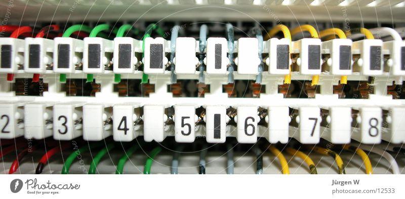 Verbindungen Verteiler Stecker Dinge Technik & Technologie Ziffern & Zahlen Kabel switchgear cabinet technology numbers cable plug