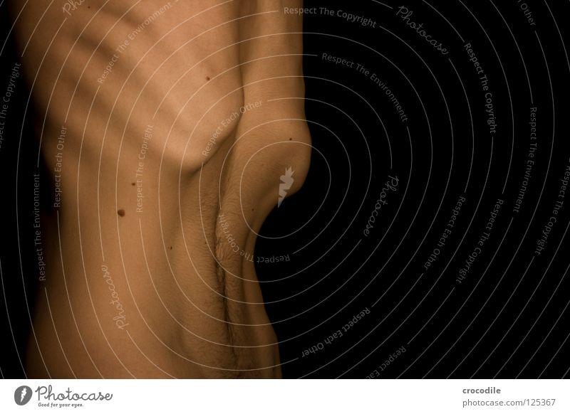 Dick Magersucht Rippen verhungern schön Brustkorb Krankheit Mann Junger Mann Selbsthass Appetit & Hunger vernachlässigen Untergewicht Body-Mass-Index