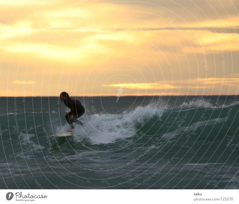 SUNRISE SURF II springen Coolness Surfen Surfer Wassersport Neuseeland Surfbrett Südinsel