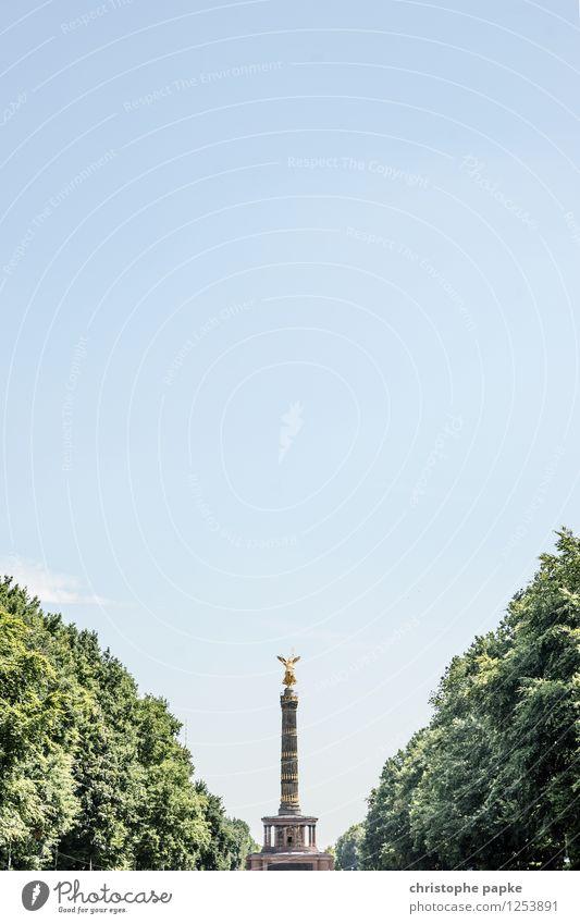 Goldelse Ferien & Urlaub & Reisen Tourismus Ausflug Städtereise Skulptur Architektur Himmel Wolkenloser Himmel Frühling Sommer Schönes Wetter Pflanze Baum Park