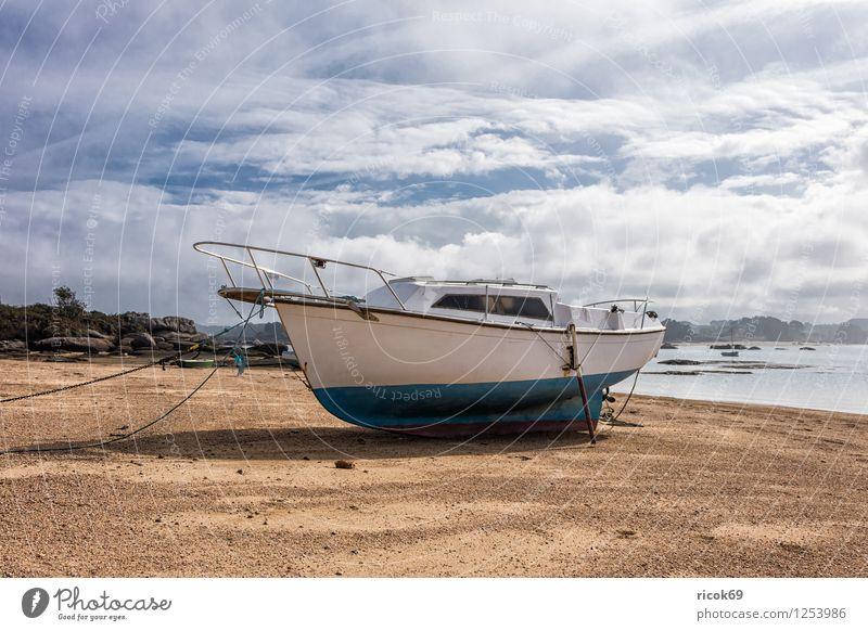 Hafen in der Bretagne Natur Ferien & Urlaub & Reisen Baum Erholung Landschaft Wolken Küste Wasserfahrzeug Tourismus Sehenswürdigkeit Frankreich Atlantik Ebbe