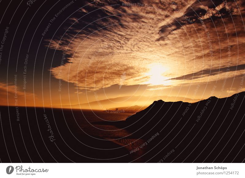 San Andrés / Teneriffa XLVI Himmel Natur Ferien & Urlaub & Reisen Himmel (Jenseits) Sonne Meer Landschaft Wolken Ferne dunkel Berge u. Gebirge Wärme Küste Luft