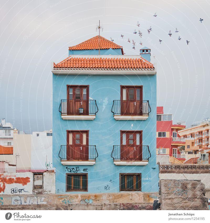 *** 800 *** Puerto de la Cruz / Teneriffa XLVI Kleinstadt Stadt Stadtzentrum Stadtrand Altstadt bevölkert Haus Einfamilienhaus Fassade Fenster Dach ästhetisch
