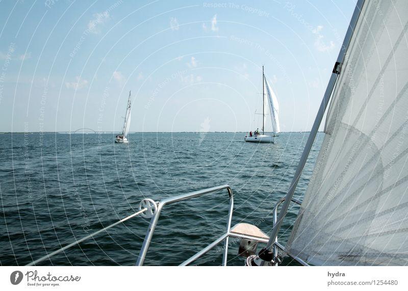 Lazing on a sunny afternoon Erholung Ferien & Urlaub & Reisen Sommerurlaub Meer Segeltörn Segeln Segelurlaub Yachting Reling Wellen Küste Ostsee Fjord Fehmarn
