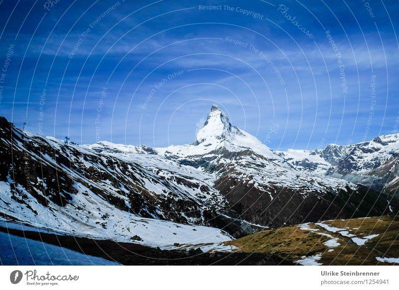 Der Berg rief 2 Himmel Natur Ferien & Urlaub & Reisen blau weiß Landschaft Berge u. Gebirge Umwelt Frühling Gras Schnee Eis Tourismus hoch Spitze Schönes Wetter