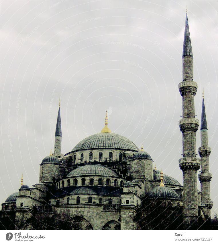 mächtig Himmel Ferien & Urlaub & Reisen alt blau Architektur Religion & Glaube Kunst Freiheit gold groß hoch rund Dach Turm historisch Trauer