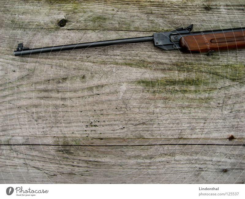 RIFLE I Holz Angst laufen Tisch Ziel Panik Waffe Teleskop Gewehr