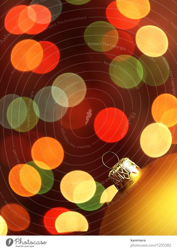 Verschwommene Weihnachtsbeleuchtung. Weihnachten & Advent grün schön Farbe rot Winter Glück Feste & Feiern Kunst hell glänzend Design Dekoration & Verzierung