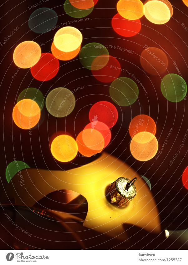 Glasscherben, Weihnachtskugeln. Design Glück schön Winter Dekoration & Verzierung Feste & Feiern Weihnachten & Advent Kunst Ornament glänzend hell neu grün rot