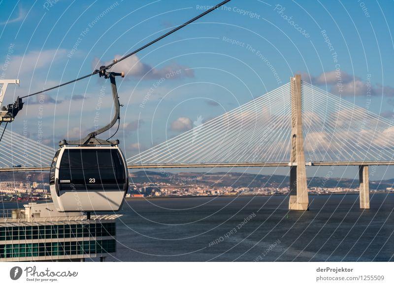 Gondelbahn und Ponte Vasco da Gama Ferien & Urlaub & Reisen Tourismus Ausflug Abenteuer Ferne Freiheit Sightseeing Städtereise Sommerurlaub Umwelt