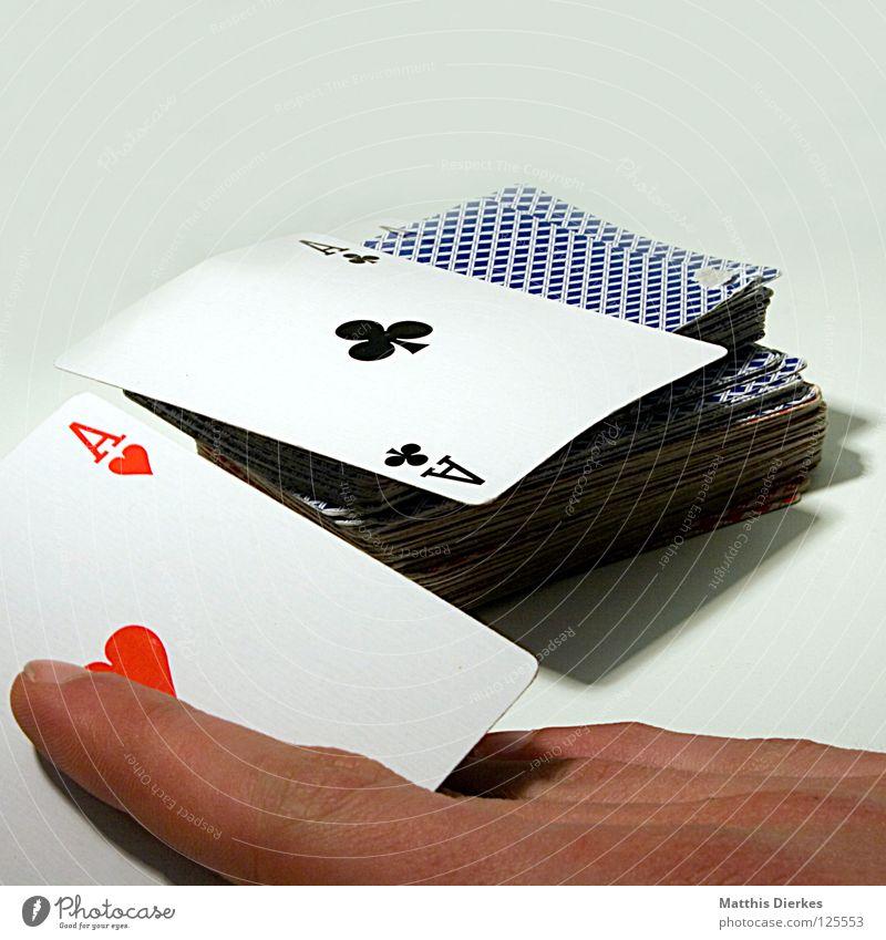AA Spielkarte Ass Glücksspiel Poker Rückseite Eisenbahn Lotterie Zufall zufällig ungewiss betrügen Drogenhandel Pokerface Spielkasino Skat Spielen Spieler