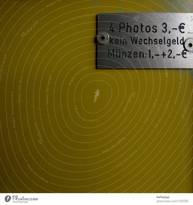 preisdumping Datenübertragung Guthaben Einkommen Billig Fotografie Passbild Automat Fotografieren Erinnerung teuer Souvenir Geldmünzen Wechselgeld Blech