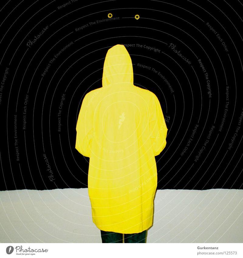 Blinder Ostfriese schwarz gelb Wand Regen Kunst Bekleidung Kultur blind Gummi Kunstwerk Dänemark Filz Regenjacke Kopenhagen Regenmantel