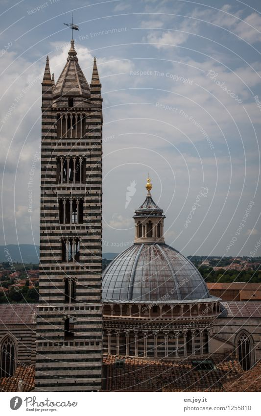 ...macht eigentlich dick Himmel Ferien & Urlaub & Reisen Stadt alt Sommer Religion & Glaube Tourismus Kirche Italien Dach Turm historisch Bauwerk Wahrzeichen