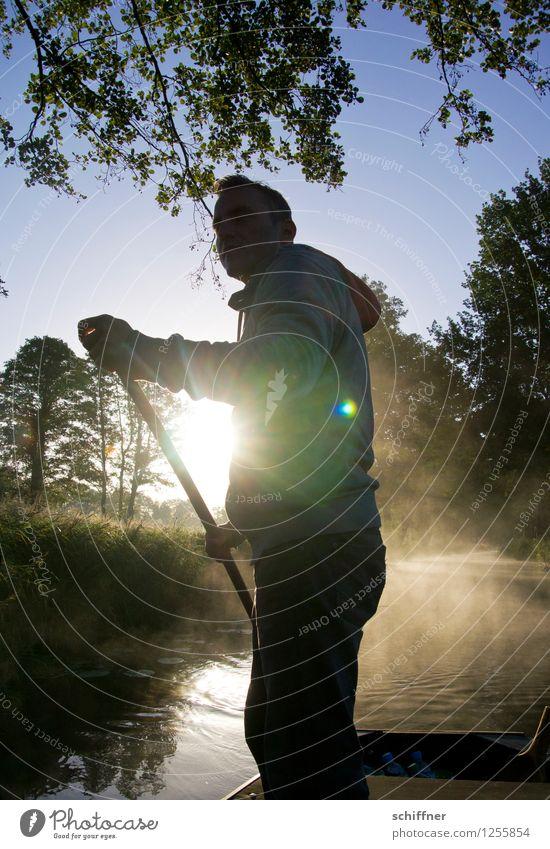 Spreedorado | Spreegondoliere Mensch maskulin Junger Mann Jugendliche Erwachsene 1 30-45 Jahre Natur Landschaft Wasser Sonne Sonnenaufgang Sonnenuntergang