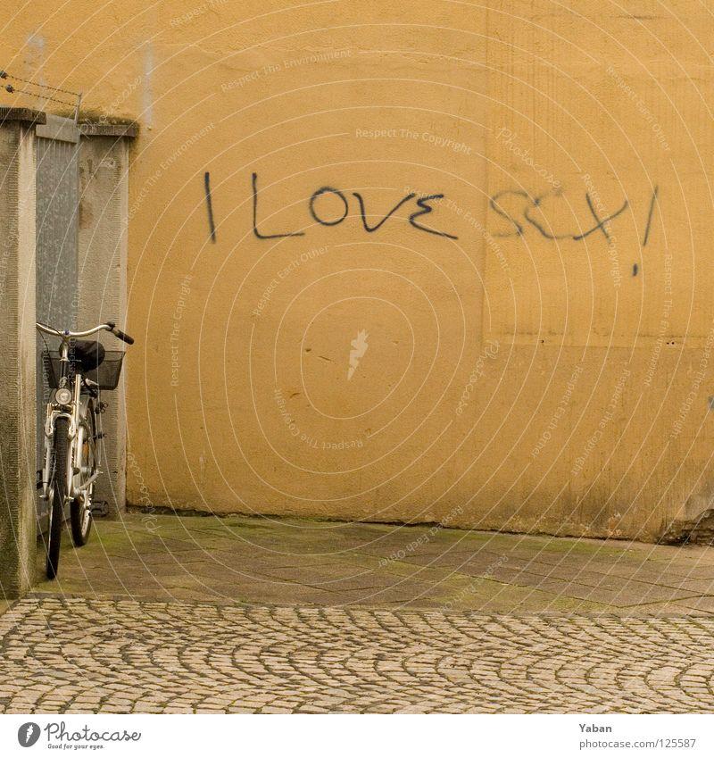 I love sex Freude Liebe Wand Graffiti dreckig einfach Ehrlichkeit Tagger Wandmalereien